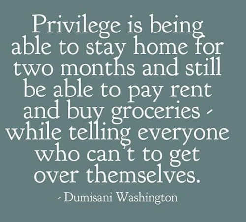 quote washington privilege stay home two months telling everyone cant pay rent get over themselves