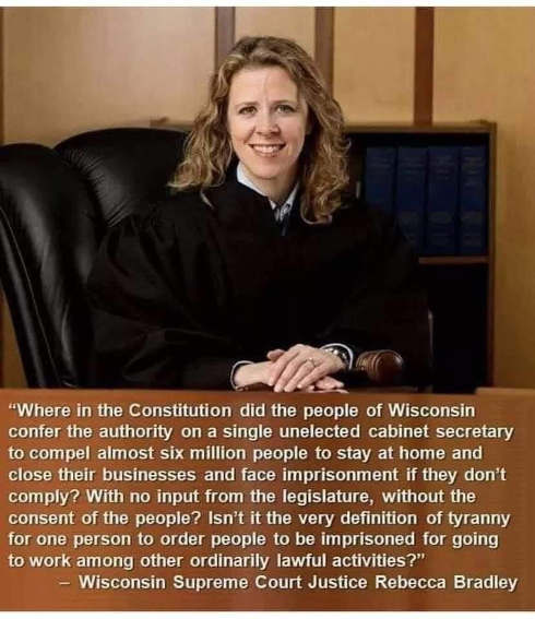 quote wi supreme court justice bradley where in constitution