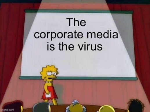 the corporate media is the virus lisa simpson