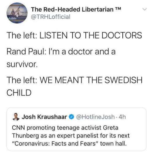 tweet left listen to doctors paul doctor and survivor cnn meant swedish child