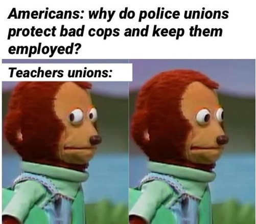 americans why do police protect bad cops keep employed teachers unions