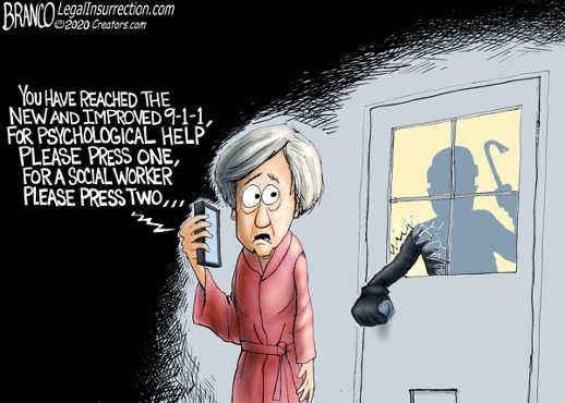 burglar hello 911 press 1 for psychologist 2 for social worker