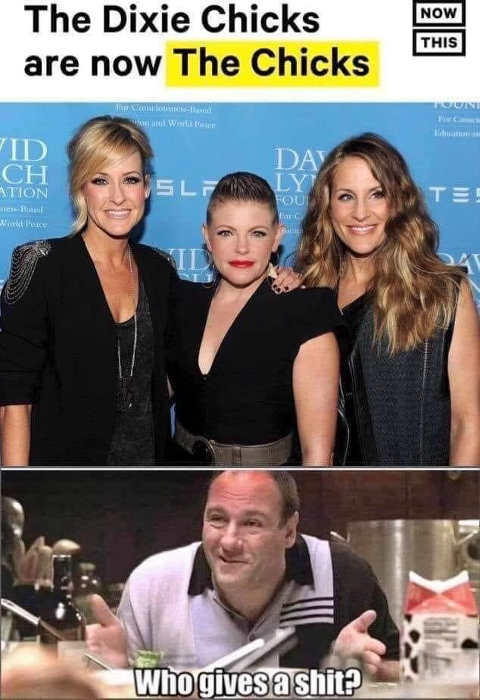 dixie chicks now the chicks who gives a shit