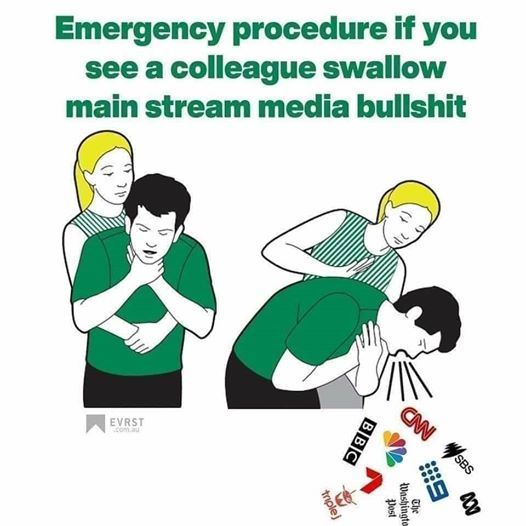 emergency procedure if mainstream media bullshit choking cnn bbc nbc washington post