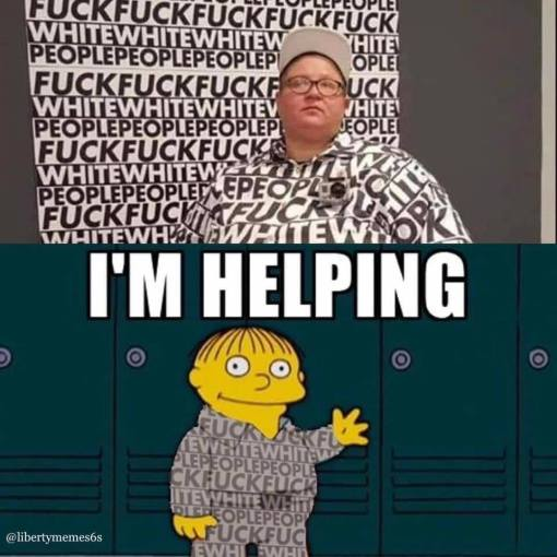fuck white people im helping simpsons