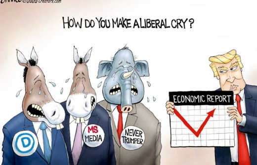 how do you make liberal cry economic v recovery democrats media never trumpers