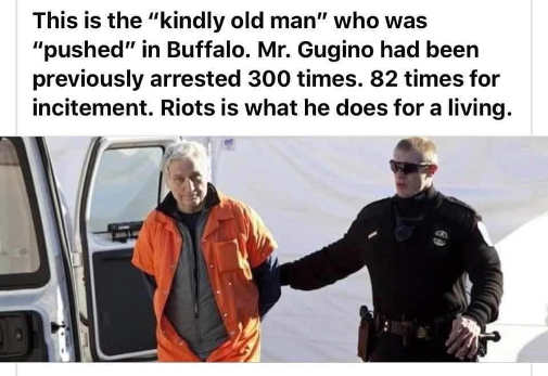 kindly old man pushed buffalo arrested 300 times 82 for incitement riots