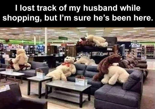 lost track of husband while shopping bears sex positions