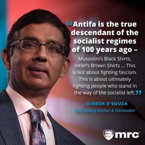 quote dsouza antifa true descendant of socialist regimes 100 years ago