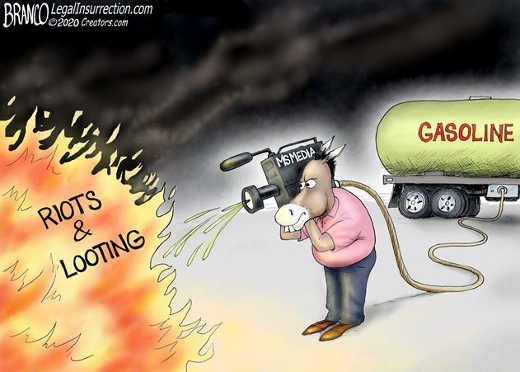 riots media putting gasoline on the fire