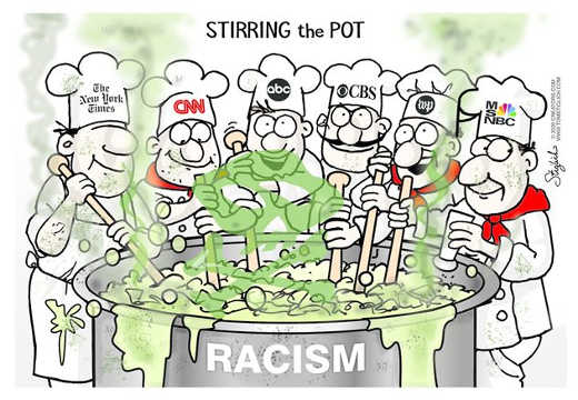 stirring pot racism ny times cnn cbs msnbc wash post abc