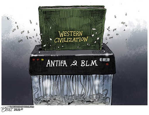 western civilization antifa blm soviet paper shredder