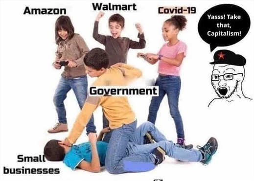 amazon walmart covid 19 government beating up small businesses take that capitalism
