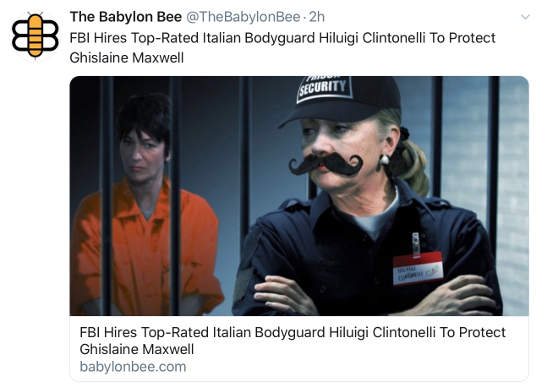 babylon bee fbi hires top rated bodyguard to protect maxwell