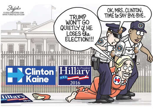 hillary clinton trump wont go quietly if loses election time to say bye bye