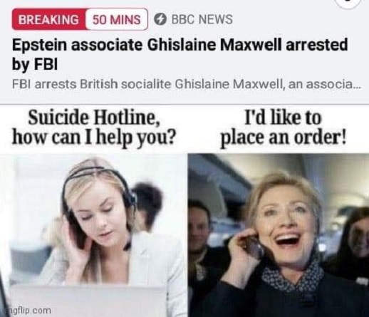 jeffrey epstein associate maxwell arrested by fbi suicide hotline hillary like to place an order