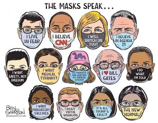 masks speak i believe cnn live in fear trumps fault new normal medical tyranny