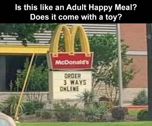 order 3 ways online adult happy meal does it come with toy