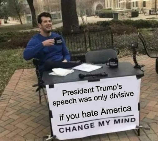 president trumps mount rushmore speech only divisive if you hate america change my mind