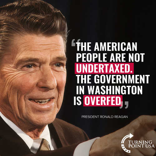 reagan quote american people not undertaxed government is overfed