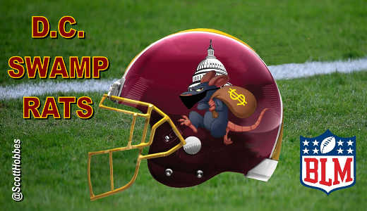 redskins dc swamp rats sponsored by blm nfl