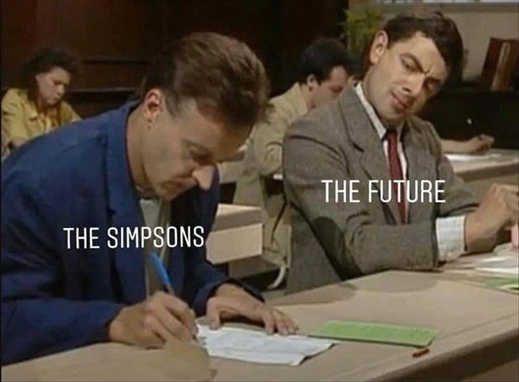 the future copying paper of the simpsons