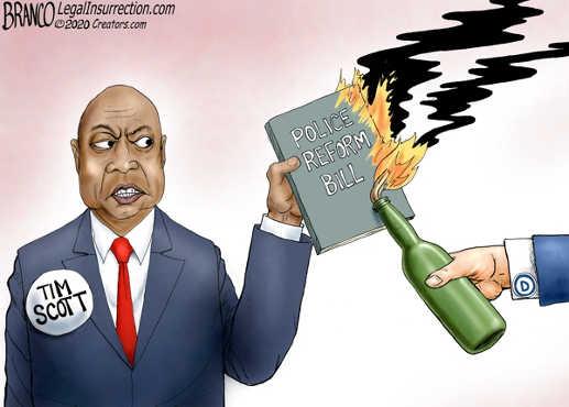 tim scott police reform bill being torched by democrats