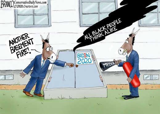 another basement fire joe biden media put out fire blacks all alike
