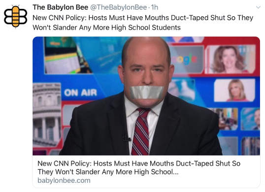 babylon bee new cnn policy hosts must have duct taped mouths dont slander