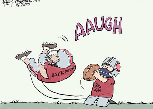 big ten back to normal charlie brown football
