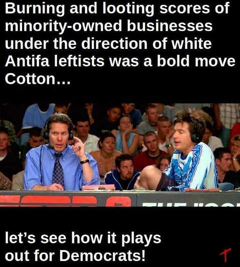 burning looting minority businesses antifa bod strategy democrats