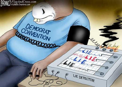 democratic convention lie detector exploding