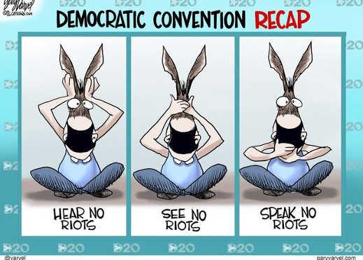 democratic convention recap hear see speak no riots