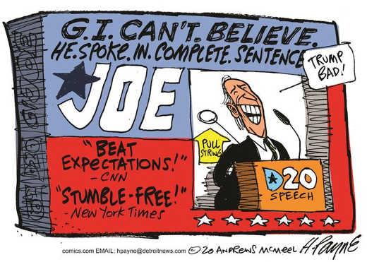 gi joe biden spoke in complete sentence trump bad beat expectations stumble free cnn ny times
