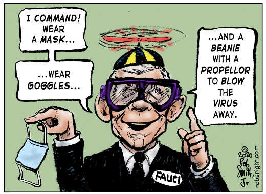 i command wear mask goggles beanie dr fauci