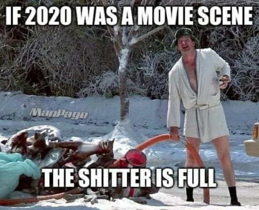 if 2020 was a movie scene shitter is full christmas vacation