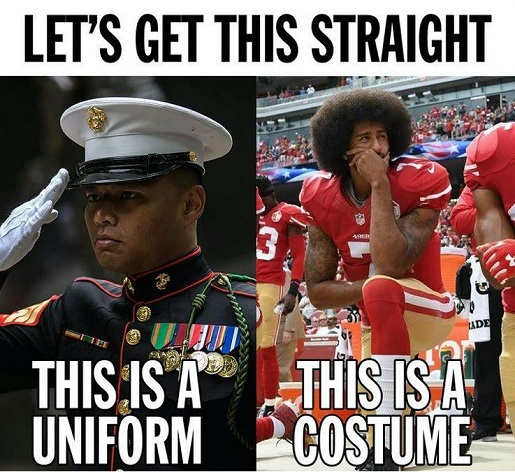 message get this straight military this is uniform sports this is costume