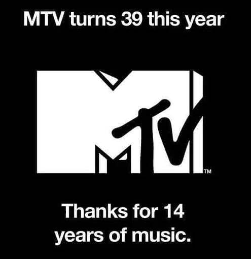 mtv turns 39 this year thanks for 14 years of music