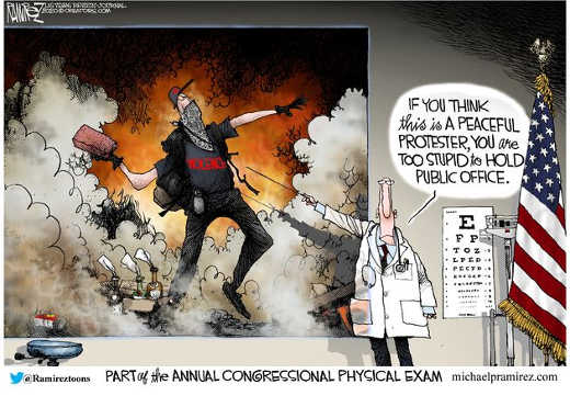 physician eye chart if you think this is peaceful protester too stupid to hold congressional office