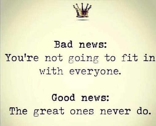 quote bad news not going to fit it with everyone good news great ones never do