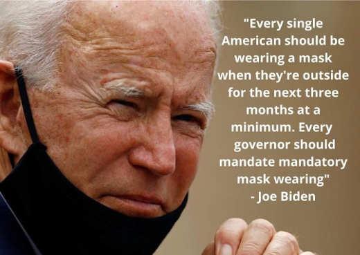 quote joe biden every single american should wear mask 3 months outside