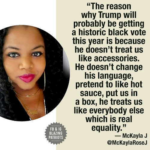 quote mckayla reason trump get historically high black vote not accessories