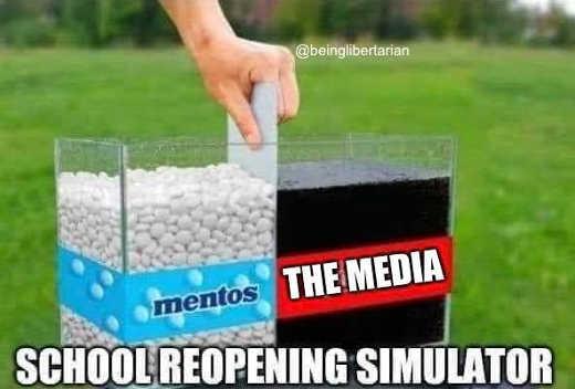 school reopening simulator mentos media coke mentos