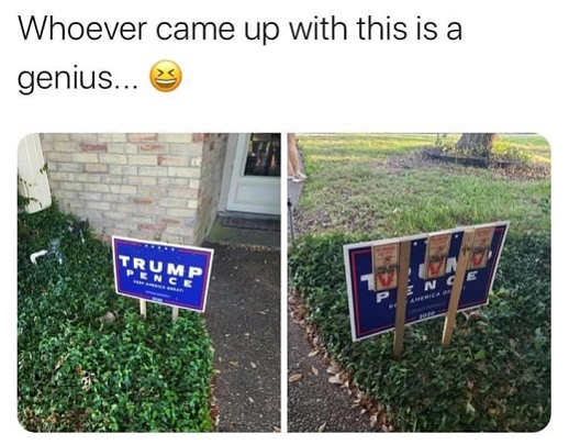 trump sign mouse trap whoever came up with this is genius