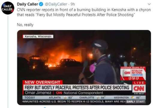 tweet cnn fiery but mostly peaceful protests kenosha