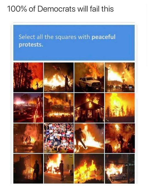 100 percent democrats fail what squares have peaceful protests riots