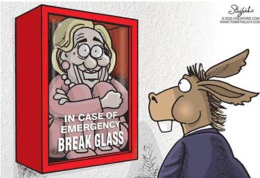 democrats in case of emergency break glass hillary clinton