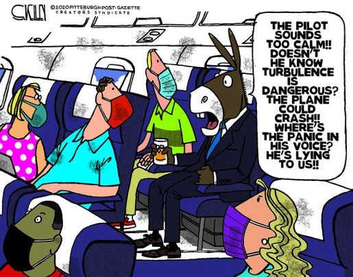 democrats panic pilot turbulence