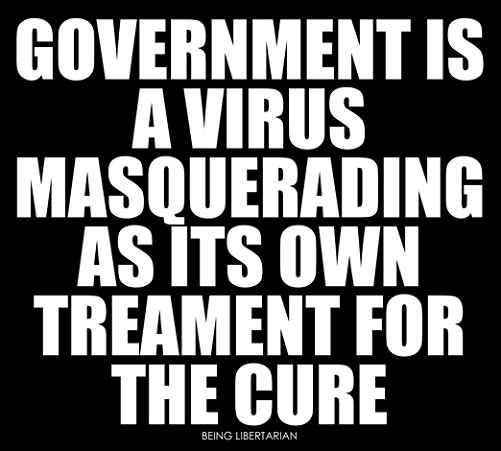 government is a virus masquerading as its own treatment for the cure