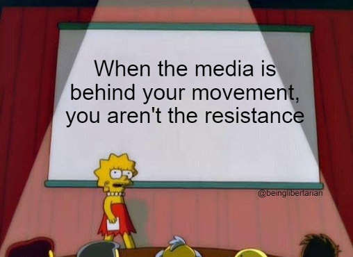 lisa simpson when media is behind your movement you arent resistance blm antifa